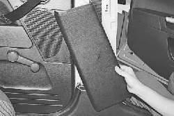 Замена переднего ремня безопасности