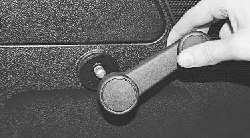 Снятие и установка обивки задней двери