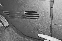 Снятие и установка фильтра очистки поступающего в салон воздуха