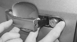 Замена наружной ручки и замка передней двери