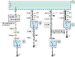 Схема 19б. Внутреннее освещение салона