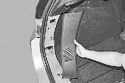 Снятие и установка облицовок багажника