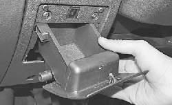 Замена выключателя электропривода замка багажника