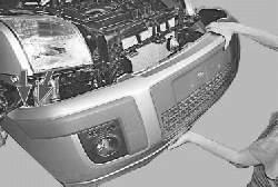 Снятие и установка переднего бампера и его бруса
