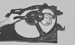 Снятие и установка электродвигателя вентилятора радиатора системы охлаждения