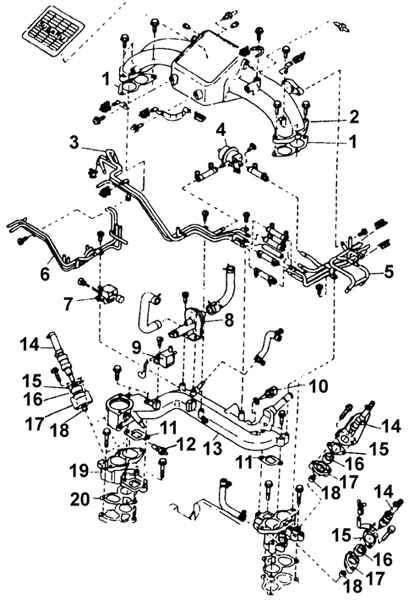 схема снятия гбц четырехвального на субару