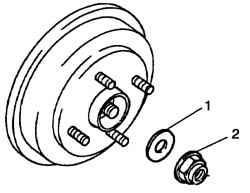Снятие гайки привода колеса