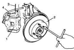Снятие тормозного диска