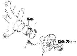 Детали ступицы переднего колеса и поворотного кулака