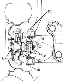 Поперечное сечение ступицы заднего колеса