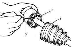 Снятие стопорного кольца корпуса