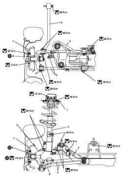 Конструкция задней подвески (переднеприводный автомобиль)
