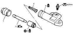 Детали рабочего цилиндра сцепления