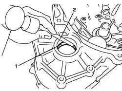 Снятие наружного кольца подшипника дифференциала