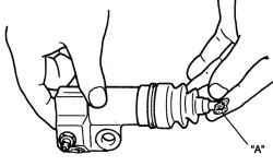 Нанесение консистентной смазки на кончик штока