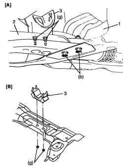 Установка элемента крепления на подрамник подвески