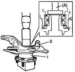 Установка ступицы и поворотного кулака