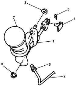 Детали главного цилиндра сцепления