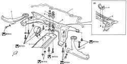Детали подрамника передней подвески