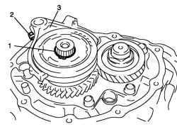 Стопорное кольцо, вал вилки переключения передач и вилка переключения передач