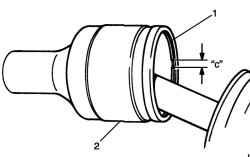 Установка стопорного кольца в канавку корпуса шарнира