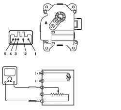 Схема проверки возможности запуска двигателя и включение лампы фонаря заднего хода