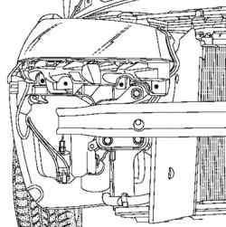 Насос стеклоомывателя (автомобиль без фароомывателя)