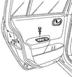 Снятие панели переключателей задней двери