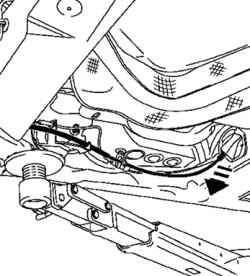 Протягивание троса снизу автомобиля