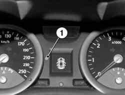 Контрольная лампа защиты автомобиля