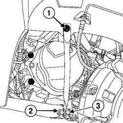 Откручивание верхних креплений рычага передней подвески