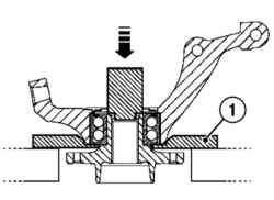 Выпрессовка ступицы из подшипника
