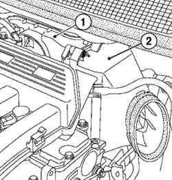 Снятие фильтрующего элемента и корпуса воздушного фильтра