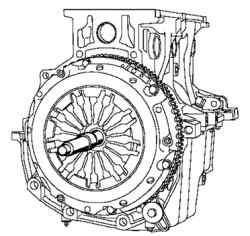 Центровка ведомого диска с помощью оправки