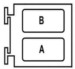 Блок, расположенный в коммутационном блоке в моторном отсеке под блоком защиты и коммутации (1337)