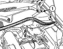 Снятие креплений решетки ниши воздухозабора