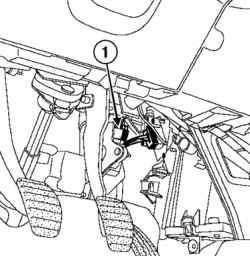 Разъем датчика положения педали акселератора