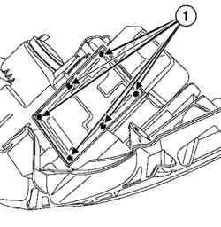 Снятие узла «ЭБУ – блок высокого напряжения»