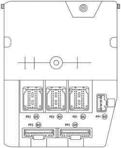 Блок, расположенный в салоне, в левой нижней части приборной панели