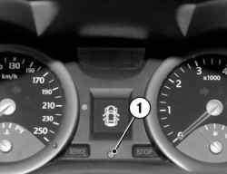 Контрольная лампа электронной блокировки запуска двигателя