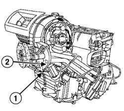 Снятие фланеца трубопроводов радиатора отопителя салона
