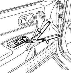 Снятие панели переключателей двери водителя