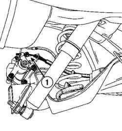 Установка тросов привода стояночного тормоза