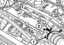 Снятие шланга системы улавливания паров топлива