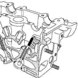 Удерживание клапана в седле