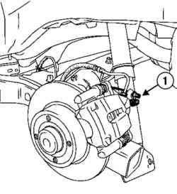 Высвобождение тросов привода стояночного тормоза