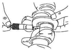 Проверка диаметра шатунных шеек