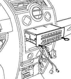 Снятие аудиосистемы