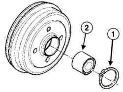 Извлечение стопорного кольца и подшипника из ступицы