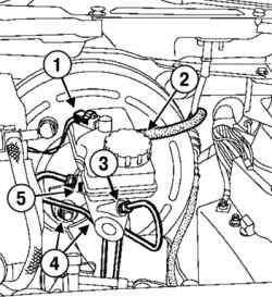 Снятие главного тормозного цилиндра и его компонетов
